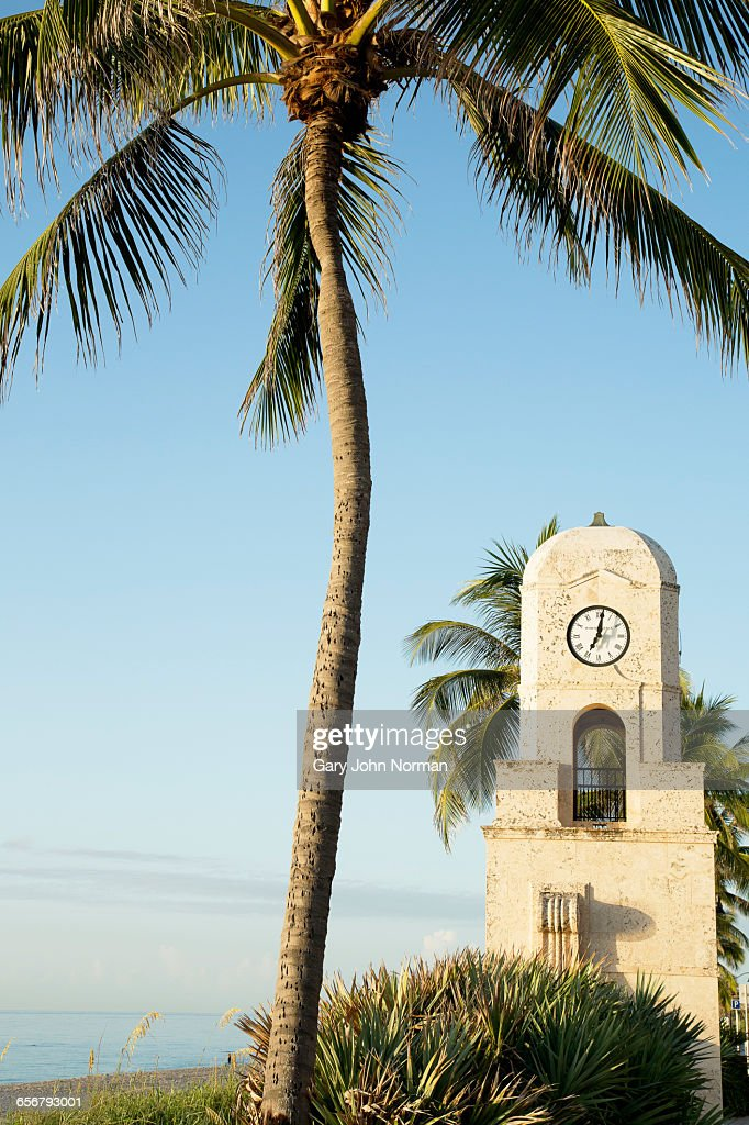 Clock tower at Worth Avenue, Palm Beach, : Stock Photo