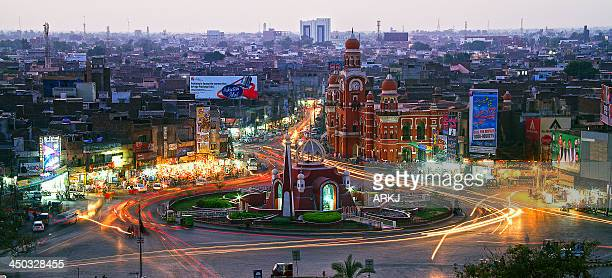 clock tower chowk, multan - multan stock pictures, royalty-free photos & images