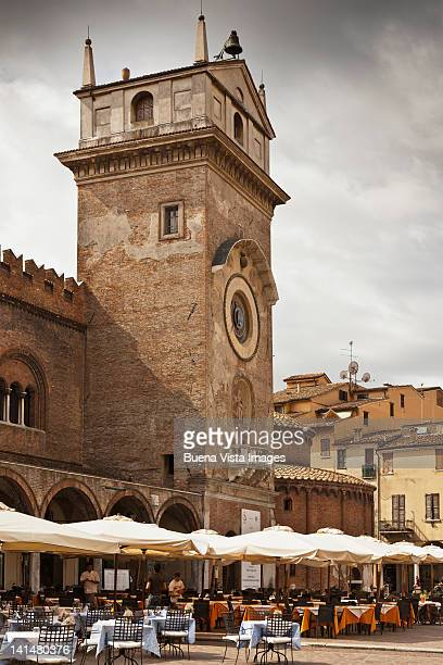 clock tower in mantova, italy - mantua stock pictures, royalty-free photos & images