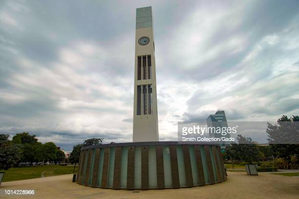 Clock Tower in the middle of the Square in Palmerston North, Manawatu, New Zealand, November 27, 2017.