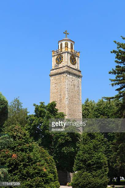 clock tower of bitola - syolacan stock pictures, royalty-free photos & images