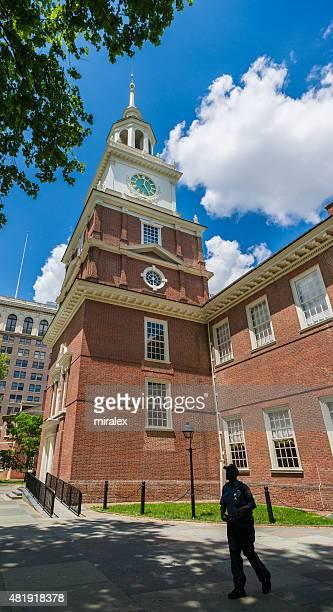 torre do relógio de independence hall, na filadélfia, pensilvânia, eua - usa - fotografias e filmes do acervo