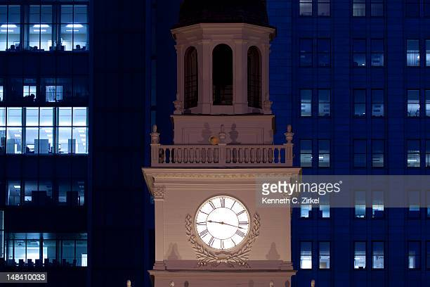 Clock tower of Independence Hall