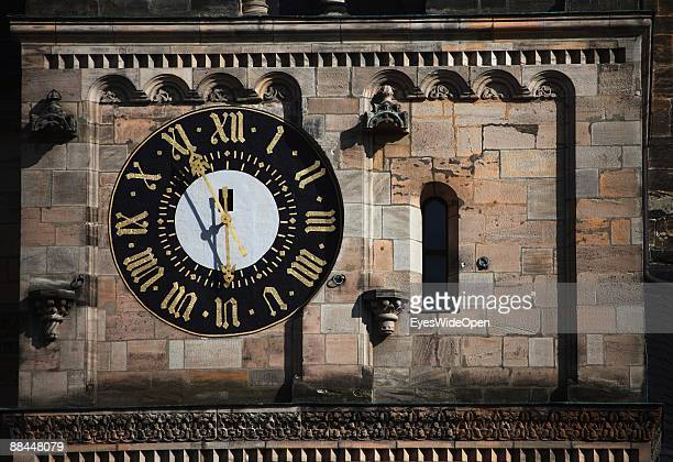 Clock Tower of the dome of Sankt Peter and St Georg on June 11 2009 in Bamberg Germany Bamberg is listed as a World Heritage by UNESCO
