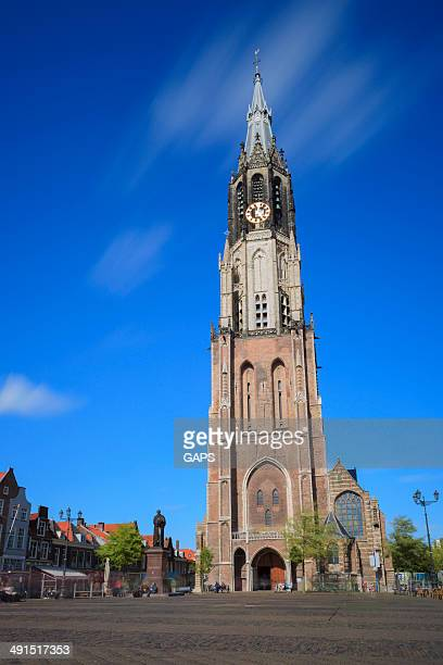 clock tower of the Nieuwe Kerk in Delft