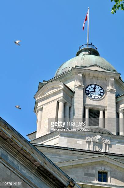Clock tower of town hall, Quebec, Canada