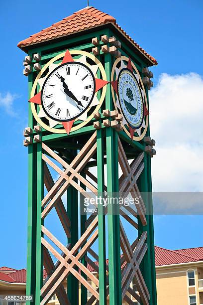 clock tower - bradenton stock pictures, royalty-free photos & images