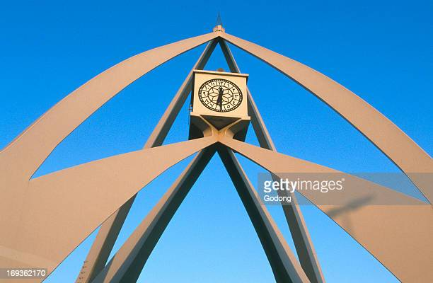 Clock Tower Roundabout in Dubai United Arab Emirates