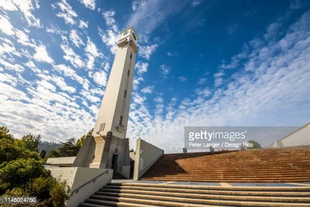 clock tower, universidad de concepcion - universidad stock pictures, royalty-free photos & images