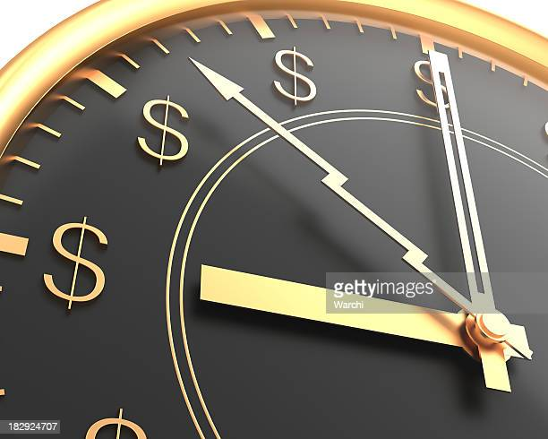 A clock with dollar signs instead of numbers