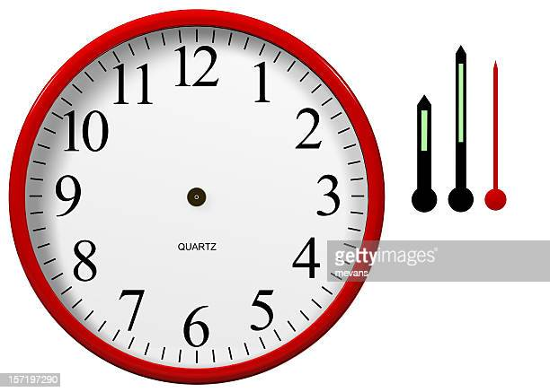 Clock with Separated Hands