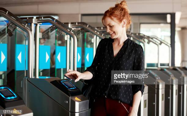 clocking in the contactless way - control stock pictures, royalty-free photos & images