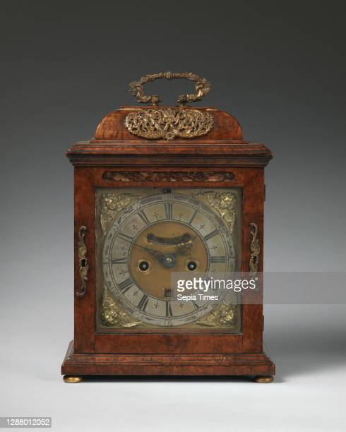 Joseph Windmills, Table or bracket clock, British, London, Clockmaker: Joseph Windmills , ca. 1700, British, London, Walnut, walnut veneer, gilt...