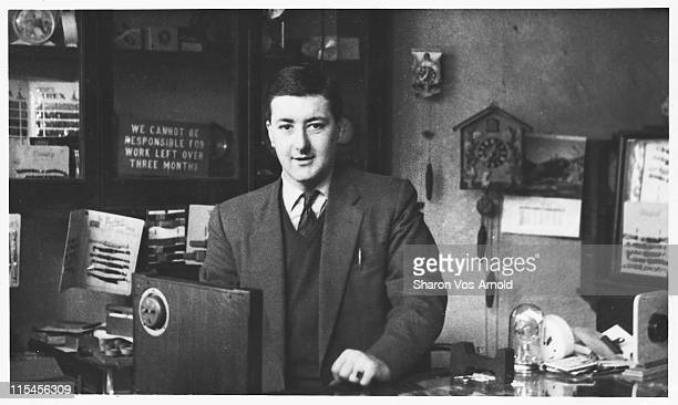 clockmender, horologist in his shop - archival stock pictures, royalty-free photos & images