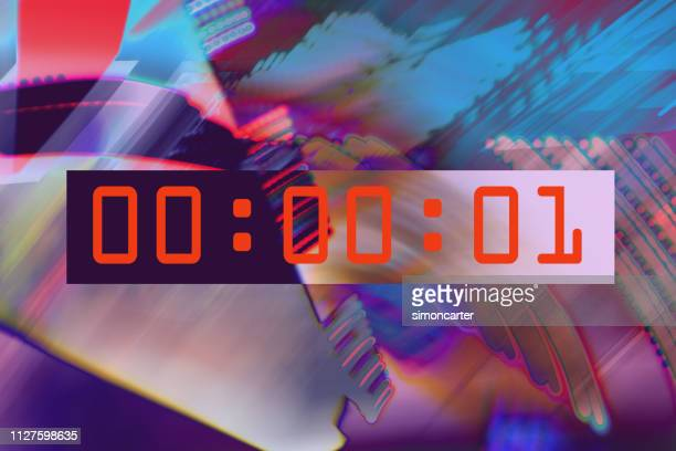 clocks on abstract backgrounds - countdown stock pictures, royalty-free photos & images