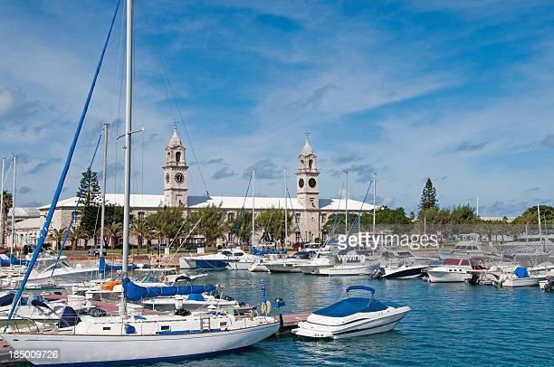Clocktower and Marina at the Bermuda Dockyard