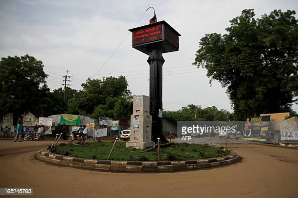 A clocktower counts the days until the independence of the South in South Sudans capital Juba on July 4 2011 The worlds newest capital is a...