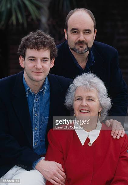 Clockwise from left English actors Martin Ball David Haig and Stephanie Cole in a promotional portrait for the BBC1 comedy series 'Keeping Mum' UK...