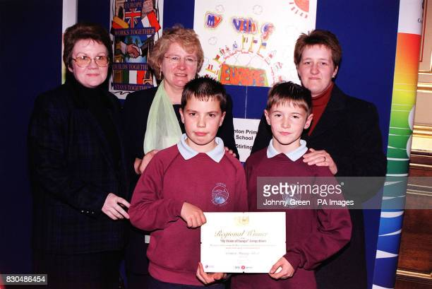 Clockwise from left Head of Cornton Primary School Stirling Moira Rennie MP for Stirling Anne McGuire teacher AnnMarie McInally with cousins Darren...
