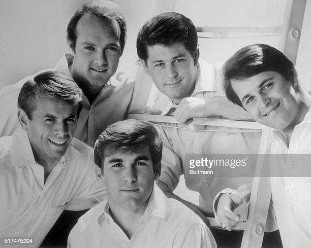 Clockwise from left the Beach Boys are Al Jardine Mike Love Brian Wilson Dennis Wilson and Carl Wilson