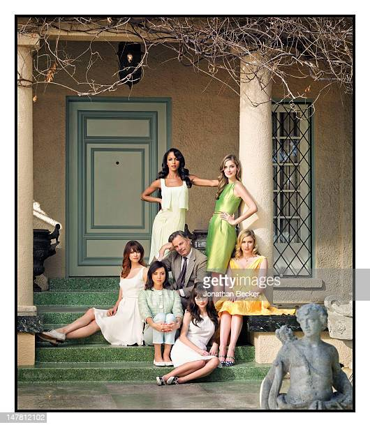 Clockwise from top left Actresses Megalyn Echikunwoke Caitlin Fitzgerald Greta Gerwig Carrie MacLemore Aubrey Plaza and Analeigh Tipton pose with...
