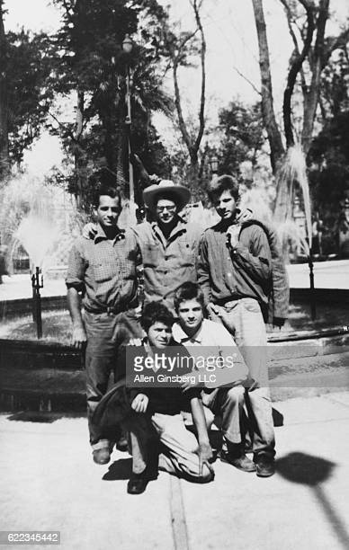 Jack Kerouac Allen Ginsberg Peter Orlovsky his brother Lafcadio Orlovsky and Gregory Corso on vacation in Mexico City circa 1956