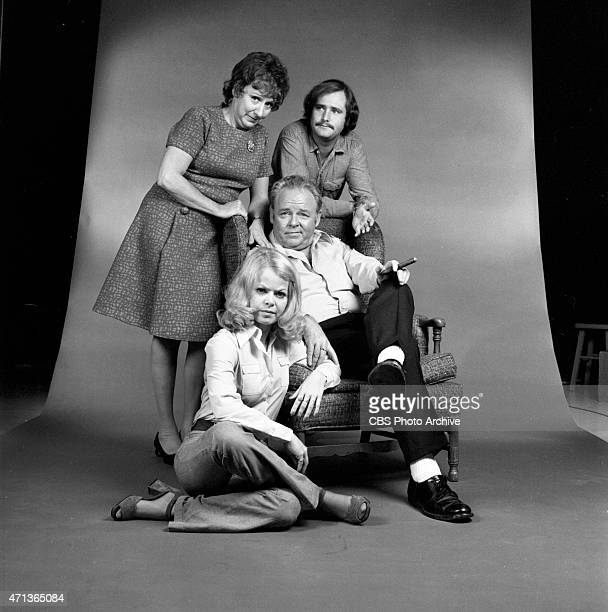 Clockwise from top left: Jean Stapleton as Edith Bunker Rob Reiner as Michael 'Meathead' Stivic, Carroll O'Connor as Archie Bunker and Sally...