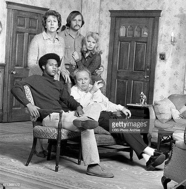 """Clockwise from top left: Jean Stapleton as Edith Bunker, Rob Reiner as Michael """"Meathead"""" Stivic, Sally Struthers as Gloria Bunker-Stivic, Carroll..."""