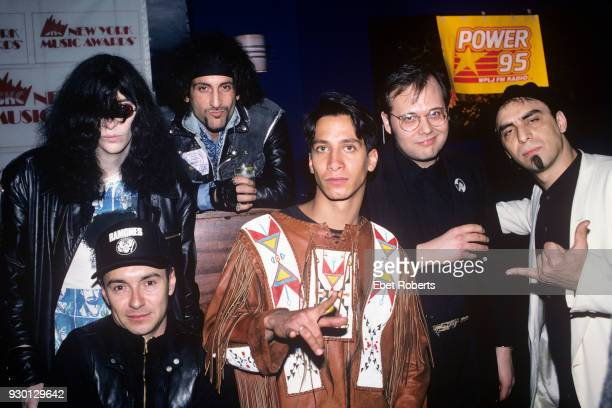Clockwise from upper left: Joey Ramone of The Ramones, Handsome Dick Manitoba of The Dictators, Dennis Diken and Pat DiNizio of The Smithereens, Noel...