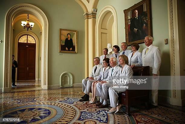Clockwise from upper left US Sen Johnny Isakson Sen Dianne Feinstein Senate Majority Leader Sen Mitch McConnell Sen Amy Klobuchar Sen Roger Wicker...