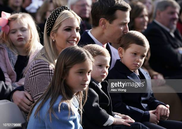 Clockwise from upper left White House adviser and first daughter Ivanka Trump her husband Jared Kushner children Theodore Kushner Joseph Kushner...