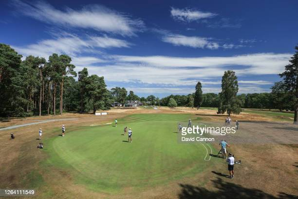 Cloe Frankish of England hits a putt on the first hole during day one of The Rose Ladies Series Grand Final at North Hants Golf Club on August 05...