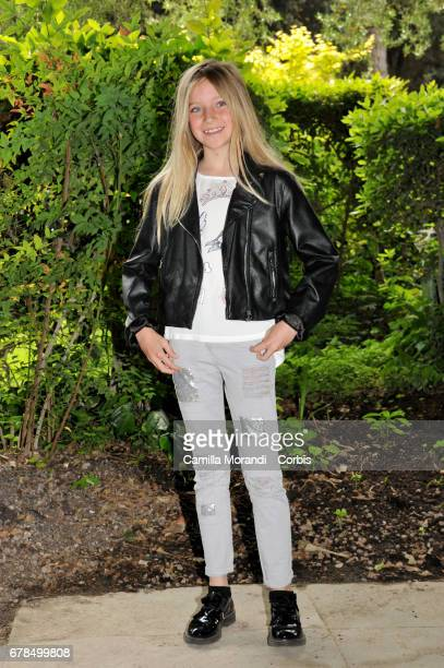 Cloe Romagnoli attends a photocall for 'Il Commissario Maltese' in Rome on May 4 2017 in Rome Italy