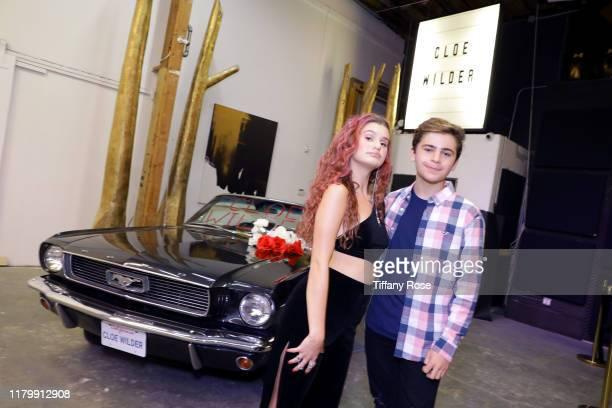 Cloe Wilder and Ayden Mekus attend Cloe Wilder's Save Me music video premiere party on October 08 2019 in Los Angeles California