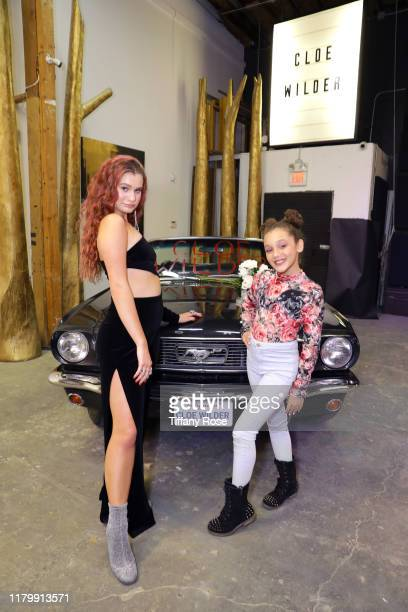 Cloe Wilder and Corinne Joy attend Cloe Wilder's Save Me music video premiere party on October 08 2019 in Los Angeles California