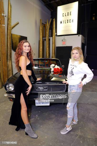 Cloe Wilder and Hannah Swain attend Cloe Wilder's Save Me music video premiere party on October 08 2019 in Los Angeles California