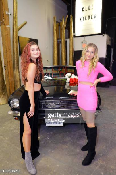 Cloe Wilder and Indigo Star Carey attend Cloe Wilder's Save Me music video premiere party on October 08 2019 in Los Angeles California