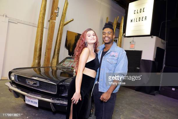 Cloe Wilder and Jasper Strong attend Cloe Wilder's Save Me music video premiere party on October 08 2019 in Los Angeles California