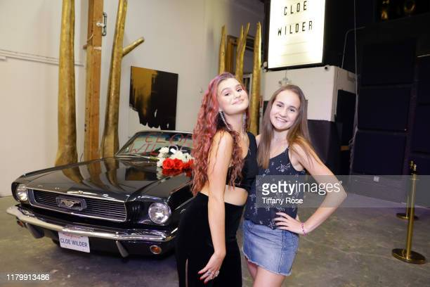 Cloe Wilder and Kimberly Girkin attend Cloe Wilder's Save Me music video premiere party on October 08 2019 in Los Angeles California
