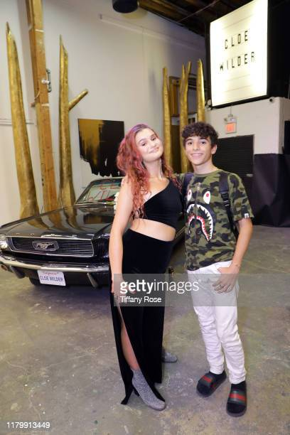 Cloe Wilder and Nick Bencivengo attend Cloe Wilder's Save Me music video premiere party on October 08 2019 in Los Angeles California