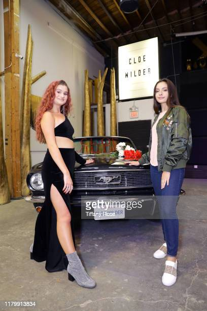 Cloe Wilder and Paris Bravo attend Cloe Wilder's Save Me music video premiere party on October 08 2019 in Los Angeles California