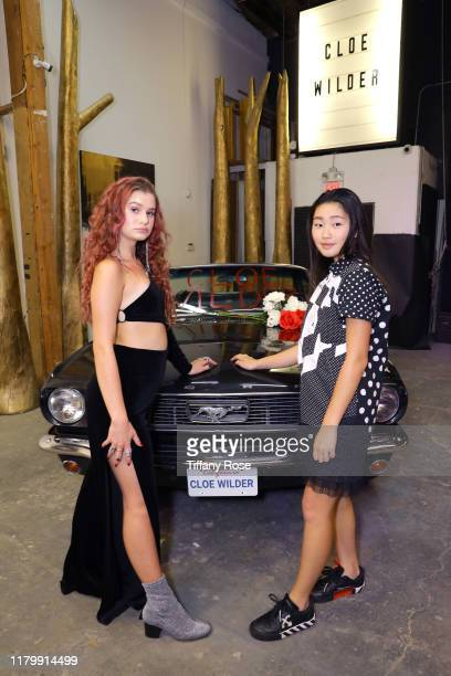 Cloe Wilder and Pearly Wong attend Cloe Wilder's Save Me music video premiere party on October 08 2019 in Los Angeles California