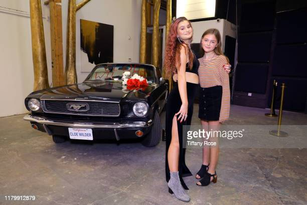Cloe Wilder and Presley Reese attend Cloe Wilder's Save Me music video premiere party on October 08 2019 in Los Angeles California
