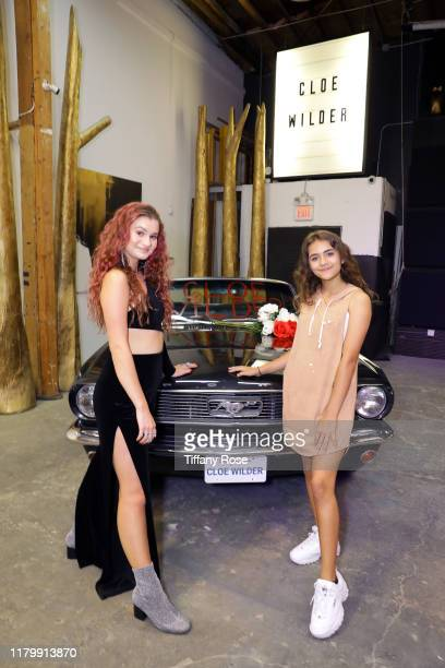Cloe Wilder and Prymrr attend Cloe Wilder's Save Me music video premiere party on October 08 2019 in Los Angeles California