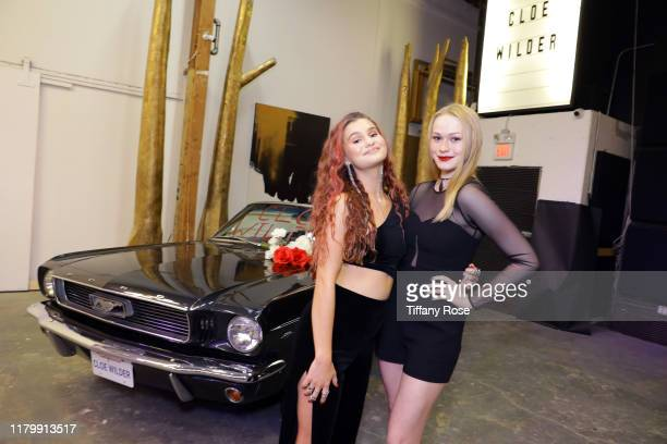 Cloe Wilder and Rachelle Henry attend Cloe Wilder's Save Me music video premiere party on October 08 2019 in Los Angeles California