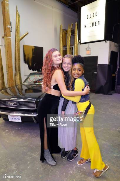 Cloe Wilder Annaka Fourneret and Brianni Walker attend Cloe Wilder's Save Me music video premiere party on October 08 2019 in Los Angeles California