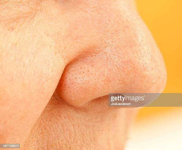 clogged pores on nose - pores stock photos and pictures