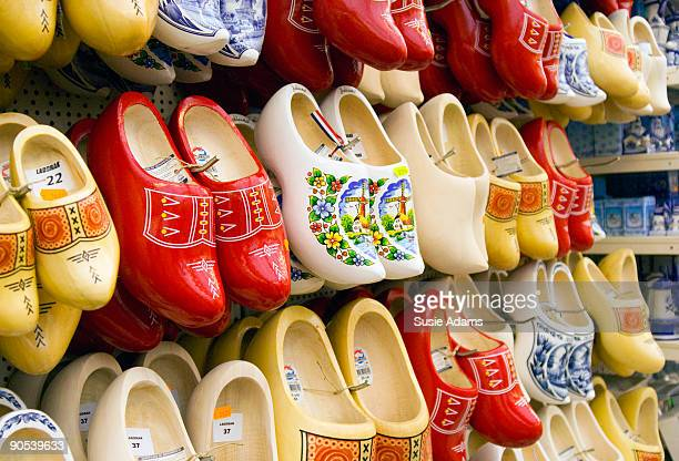 Clogs for sale in souvenir store