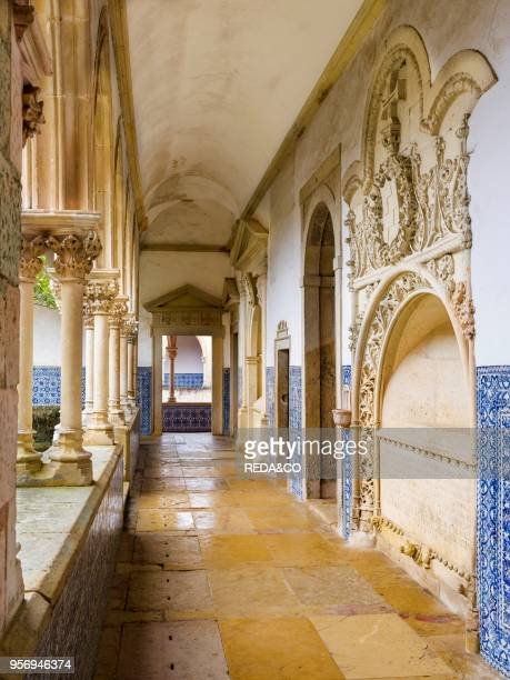 Cloister Claustro de Cemiterio Convent of Christ Convento de Cristo in Tomar It is part of the UNESCO world heritage Europe Southern Europe Portugal...