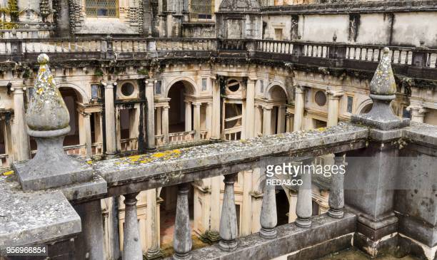 Cloister Claustro de D Joao III Convent of Christ Convento de Cristo in Tomar It is part of the UNESCO world heritage Europe Southern Europe Portugal...